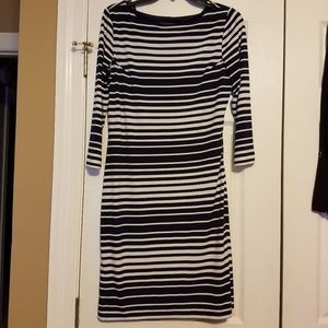 Jessica Howard Navy and white striped dress size 6